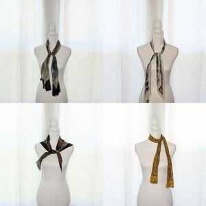 Bundle of 4 Oblong Scarves / Wraps